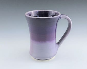 MADE-TO-ORDER Handmade Ceramic Mug, Ceramic Coffee Mug, Purple Coffee Cup, Large Mug, Purple Ombré Mug, Porcelain Mug, Tea Mug, Pottery Mug