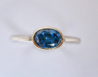 Cornflower Blue Kyanite Solitaire Ring