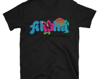 Aloha Hawaiian Shirt - Hawaii Gift T-Shirt - Travelling to Hawaii Holiday Tee