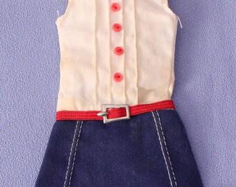 Vintage (Barbie) Skipper Cookie Time Dress, Fashion #1912, EXC