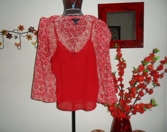 Vintage Blouse with Tank Size Large