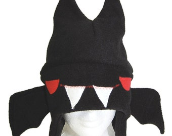 Bat Fleece Earflap Hat
