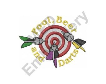 Darts - Machine Embroidery Design, Dart Board
