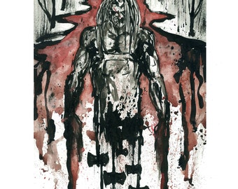 Hatchet Victor Crowley11x14 Signed and Numbered Art Print