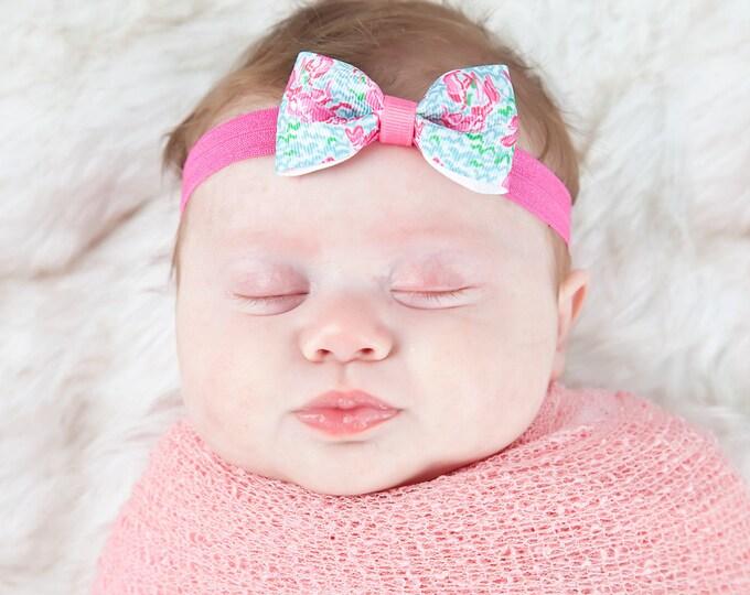 """Lobstah Roll Tuxedo Bow Headband  ~ 3"""" Hairbow ~  Baby Bow  Headband ~ Toddler Bow Headband ~ Infant Headband ~ Lilly Inspired"""