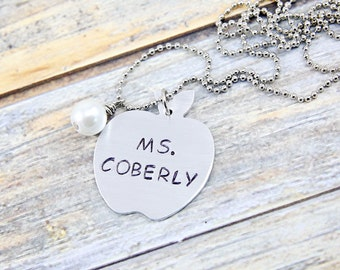 Personalized Gift Teacher - Customized Teacher Gift - Teacher Appreciation Gift - Gifts for Teachers - Teacher Necklace - Teacher Jewelry