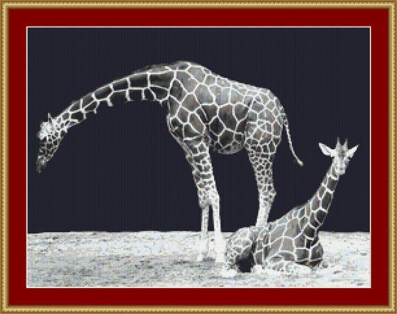 Giraffes Cross Stitch Pattern /Digital PDF Files /Instant downloadable