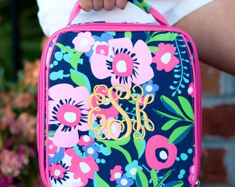 Personalized Kids Lunch Box / Monogrammed lunch box / Lunch Bag / Girls lunch Box / Posie print