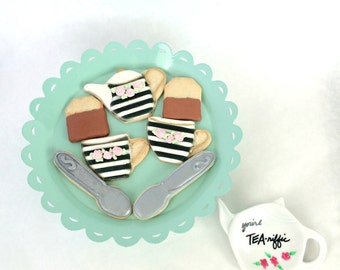 Tea Cookie Gift Set - Deluxe - Tea Time Cookies and Tea Rest