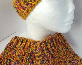 Crochet Boot Cuff and Ear Warmers Set