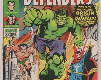 Marvel Feature (Presents the Defenders); Vol 1, 1 Bronze Age Comic Book.  FN/VF (7.0).  December 1971.  Marvel Comics