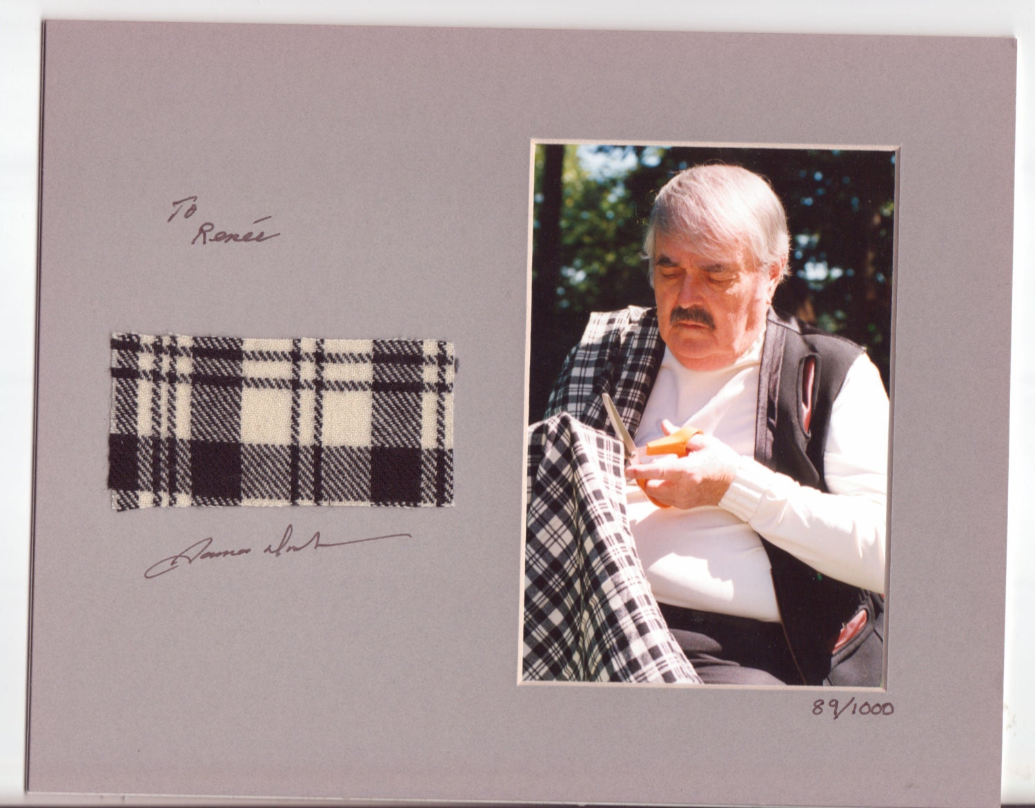 Actual piece of kilt worn by james doohan scotty signed star zoom 1betcityfo Images