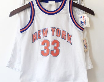 patrick ewing new york knicks jersey youth 6 1990's