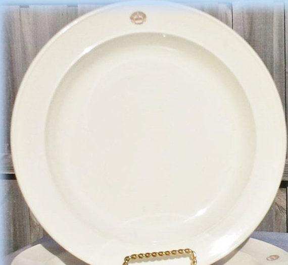 & Rare Bendigo Pottery Dinner Plate Pottery Stamped Size