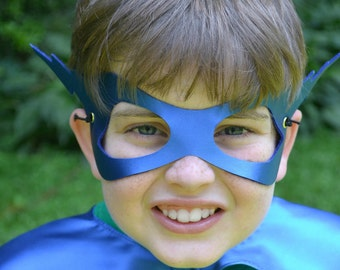 Superhero mask kid lightenbolt  or Princess Seen in INC Magazine party favors