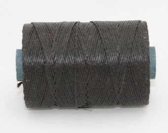Waxed Irish Linen Thread Dark Brown 7 Ply Waxed Thread