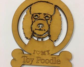 Toy Poodle Dog Ornament