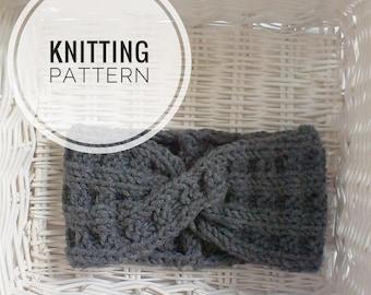 Knitting PATTERN Headband Knitting instruction Knitting Tutorial PDF Knit Headband Pattern Easy Knit Pattern Instant Download PDF Earwarmer