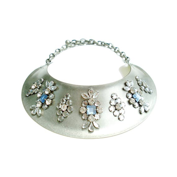 Rhinestone Metal Collar Necklace