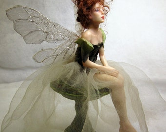 Fairy Dream, OOAK Hand Sculpted Fantasy Fairy Art Doll Collectible