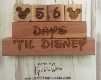 Days til Disney countdown