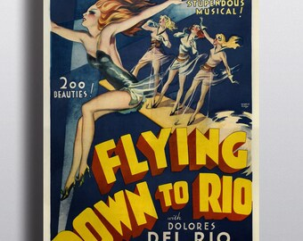 Flying Down to Rio, Musical - Movie Vintage Poster Print