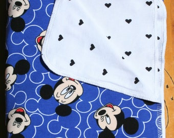 Mickey Mouse Baby Swaddle Blanket, Mickey Mouse Jersery Cotton Knit Swaddle Blanket, Baby Shower Gift, Stroller Blanket, Baby Shower Gift!!!