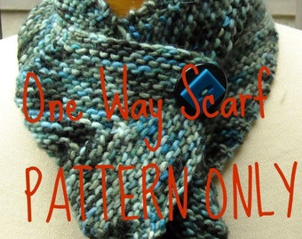 One Way Scarf Knit Pdf  Pattern by Woolmountain Studio Permission to sell items made from this pattern