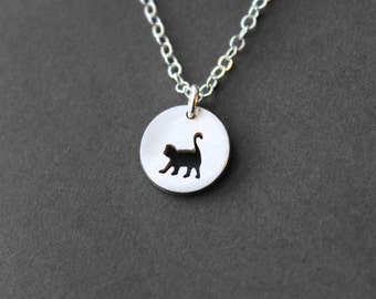 Handmade Tiny Sterling Silver Monkey Necklace - Handcrafted Silver Jewelry - Silver Necklace - Monkey