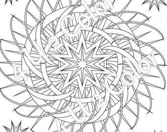 Sun Moon Stars 1 coloring page sun moon & stars