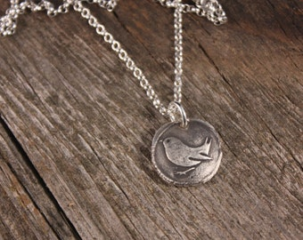 Sterling Silver Fly Away Bird Charm