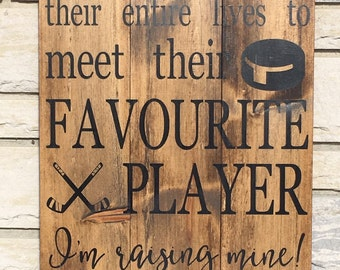 Man Cave Hockey Signs : Hockey sign for room etsy