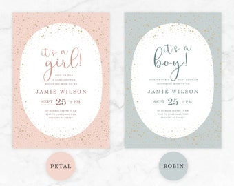 SPECKLED EGG | Customized Baby Shower Party Invitation