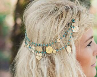 Gypsy Headpiece - Bohemian Gemstone Hair Accessories