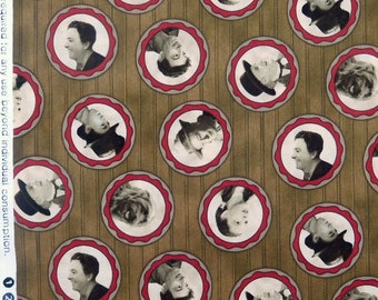 Quilting Treasures - Wizard of Oz - Portraits on Sepia - 1 Yard