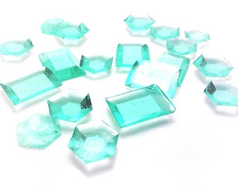AQUA EDIBLE SUGAR Jewels - Cupcake Toppers, Wedding Cake Decorations, Candy or Dessert Table, Sugar Gems, Featured in Brides Magazine