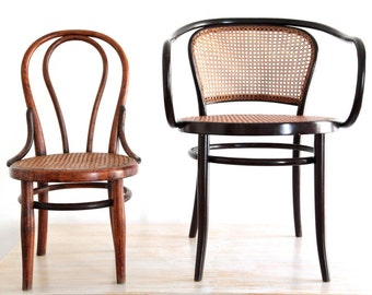 RARE Original Thonet Child Chair Wien Austria With Stamps, Early Bentwood Nursing Chair, Furniture Design Classics