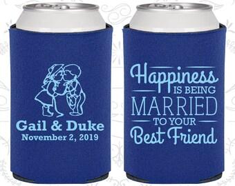 Cobalt Blue Wedding, Cobalt Blue Can Coolers, Cobalt Blue Wedding Favors, Cobalt Blue Wedding Gift, Cobalt Blue Party Gift (514)