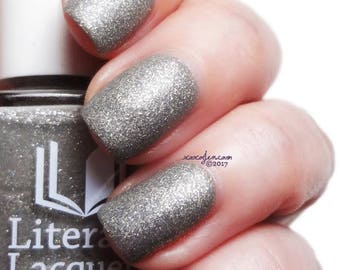 Swaying Grayly - Matte Grey with Silver Flakies Nail Polish