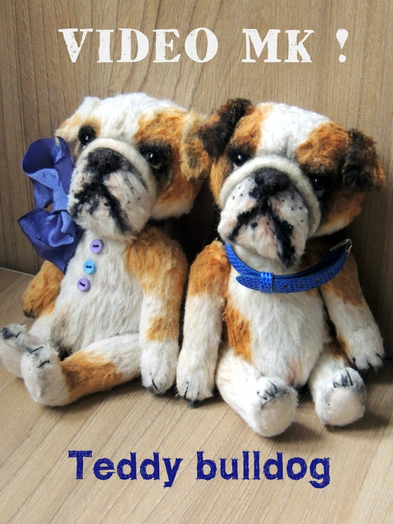 Do it yourself teddy bear video master class bulldog masterclass do it yourself teddy bear video master class bulldog masterclass pattern animalistic gifts soft toy pattern art therapy handmade ooak from katerinamakogon solutioingenieria Image collections