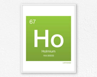 67 Holmium, Periodic Table Element | Periodic Table of Elements, Science Wall Art, Science Poster, Science Print, Science Gift