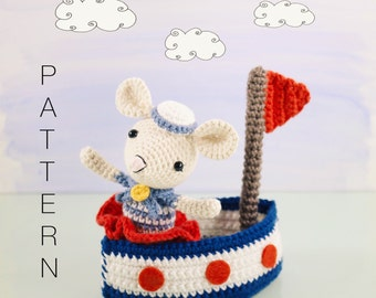 Amigurumi crochet doll pattern the little doodahs clara and amigurumi crochet doll pattern saltee the crochet sailor mouse and her little sail boat pattern dt1010fo