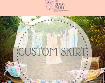 Custom Boutique Suspender Skirt