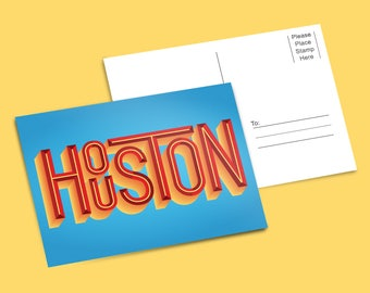 HOUSTON Postcard (Free Shipping)