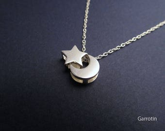 Star and Moon Pendant