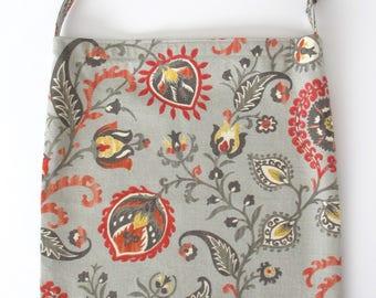 Catheter Bag Cover, 2000mL Urine Bag Cover, Catheter Tubing Cover, Drainage Bag Case, Catheter Bag Holder, Catheter Case, ORANGE BLOOMS
