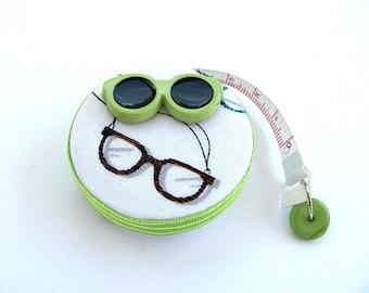 Maßband mit Retro Auge Gläser versenkbaren Maßband