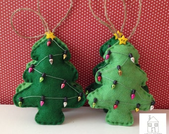 Christmas Tree Felt Ornament