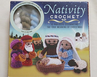 Thunder Bay Press Classic Christmas Nativity Scene Characters Crochet Kit-New