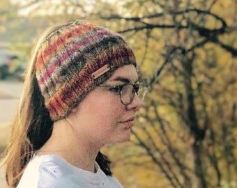Knitting Pattern: Pony Tail Hat Pattern, Messy Bun Hat Pattern, Knitted hat pattern, Open Hat Pattern, bun hat pattern, Land Run Hat